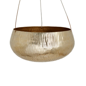 The Home Hanging Pot Planter Gold GD990-A