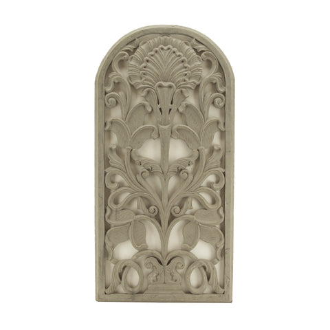 The Home Wall Panel Curved Tree Grey