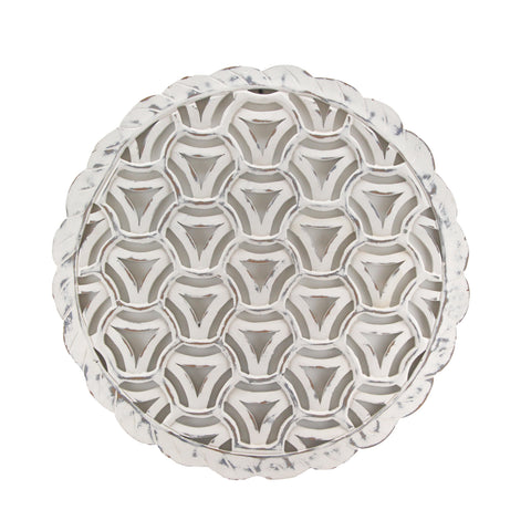 The Home Wall Panel Round Triangle White
