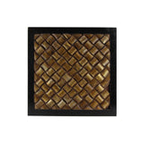 The Home Wall Square Panel 3D Bamboo Gold