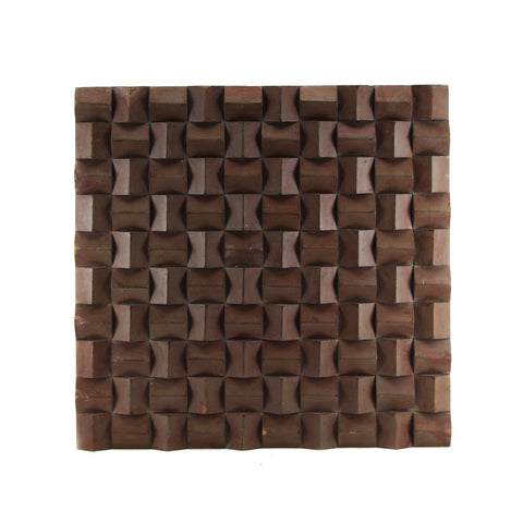 The Home Wall Square Panel 3D Hut Chocolate