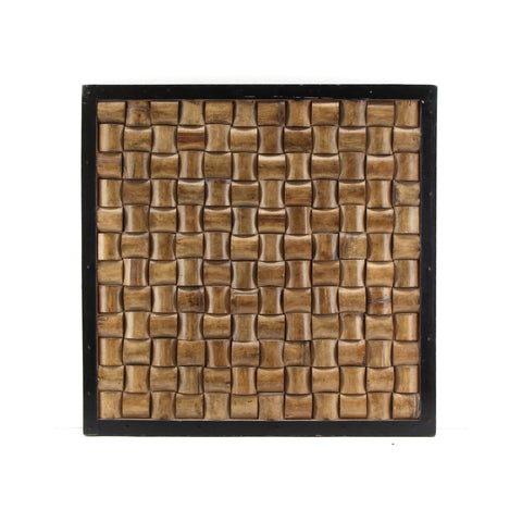 The Home Wall Square Panel 3D Bamboo Natural
