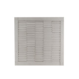 The Home Wall Square Panel 3D Line White