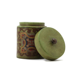 The Home Painted Canister 141499 Green
