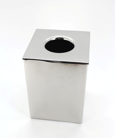 The Home Stainless Steel Waste Basket W/LID Chrome