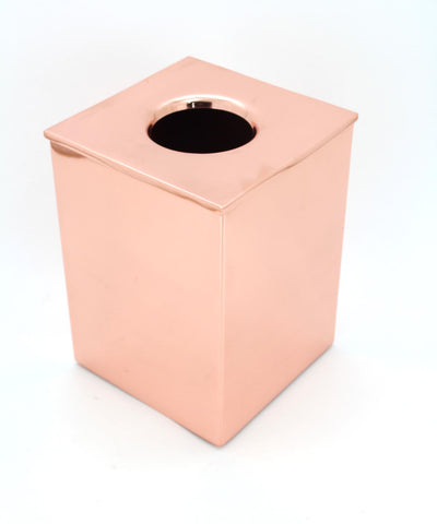 The Home Stainless Steel Waste Basket W/LID Copper Color