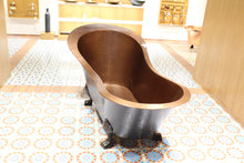 "Load image into Gallery viewer, The Home Copper Brown Bath Tub With Feet 72""X36""X34"""