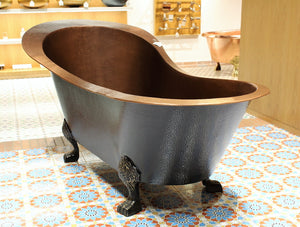 "The Home Copper Brown Bath Tub With Feet 72""X36""X34"""