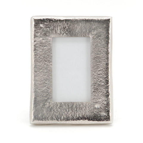 The Home Metallic Phot Frame Silver Medium 6X8 Inch