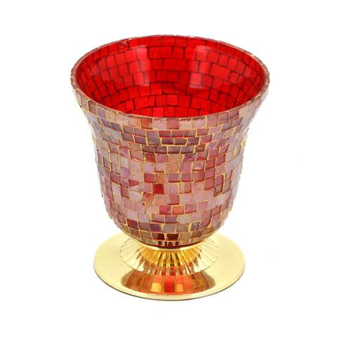 The Home T-Light Holder Red GLD 13134-CTLHB-D