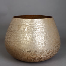 Load image into Gallery viewer, The Home Medium Round Planter Textured Gold GD1418-A
