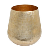 The Home Barrel Planter Medium Gold GD1205