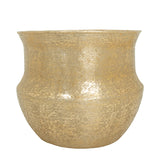 The Home Medium Round Planter Brush Gold BG1059-A