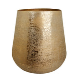 The home Medium Barrel Planter Brush Gold BG1644-B