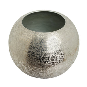 The Home Flower Pot Planter Textured Silver Small BN1500-C