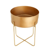 The home Pot With Stand Planter Gold 1503-A