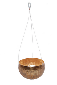 The Home Hanging Pot Planter Gold GD961