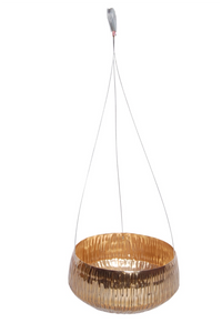 The Home Hanging Pot Planter Gold GD990-B