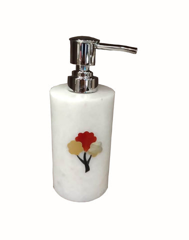 The Home Marble Lotion Dispenser Tree Inlay