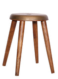 The Home Stool With Iron Top Small Brass