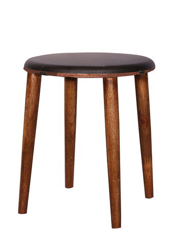 The Home Stool With Iron Top Black Medium