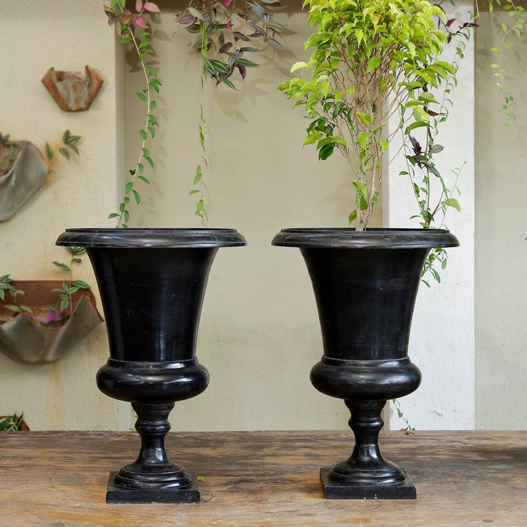 The Home Flower Vase Planter Black Big CB230-A