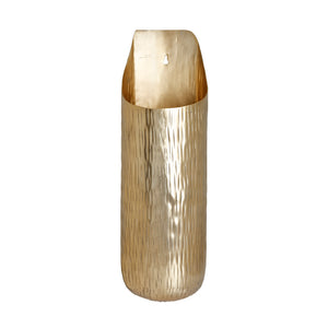The home Small Wall Vase Hammered Planter Gold GD970-C