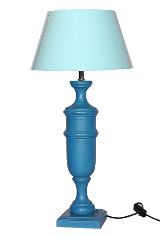 The Home Lamp Stand Wooden Blue