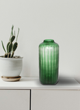 The Home Green Jar Clear With Strip-Big