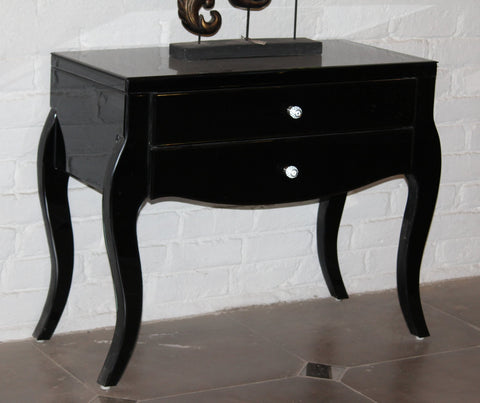 Black Mirrored Chest, 2 Drawer VDMF401
