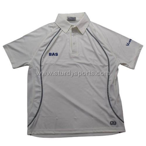 BAS Cream Short Sleeve Shirt (Mens) Sturdy Sports