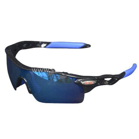 SASA Evolution Sunglasses (Black Frame / Blue Lens) Sturdy Sports