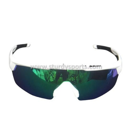 SASA Rebound Sunglasses (White Frame / Green Lens) Sturdy Sports