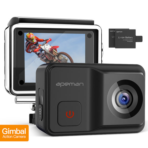 APEMAN Action Camera A85 with Built-in Gimbal