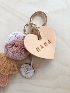 Personalised Leather heart Tag