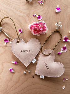 Love heart Brass Keyring - Personalised