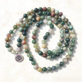 "Mala Bracelet ""Lucky"" of 108 Indian Agate Beads - SoBuddha"