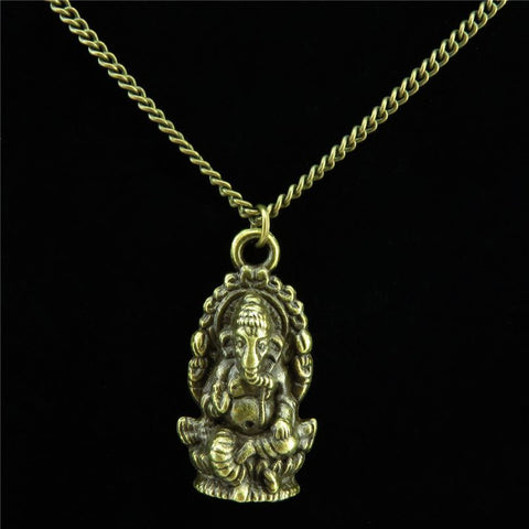 Ganesh Bronze Necklace - SoBuddha