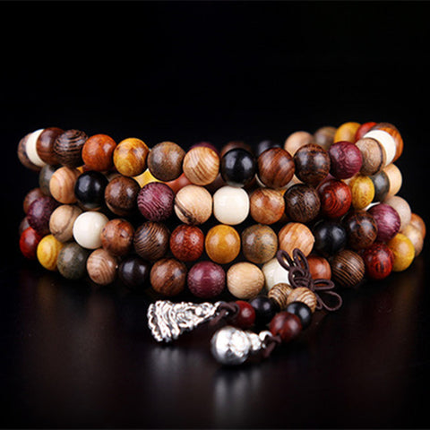 Tibetan Mala Bracelet with 108 Sandalwood Beads - SoBuddha