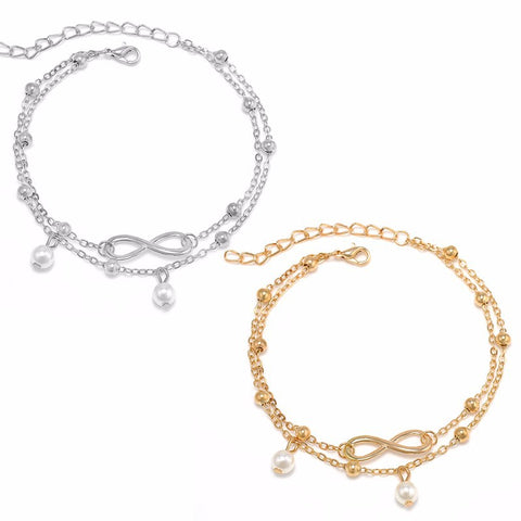 Infinity Ankle Chain - Gold or Silver - SoBuddha