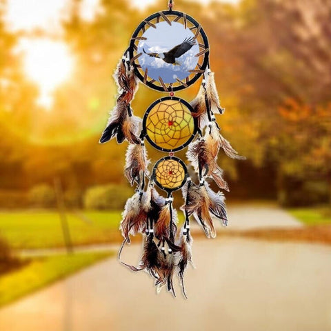 "Dreamcatcher ""Animal Totem"" - Wolf, Bear, Eagle - SoBuddha"