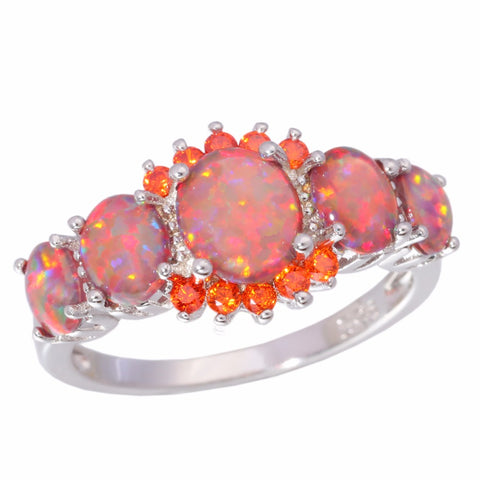 "Ring ""Desire"" in Opal Fire Orange and Garnet - SoBuddha"