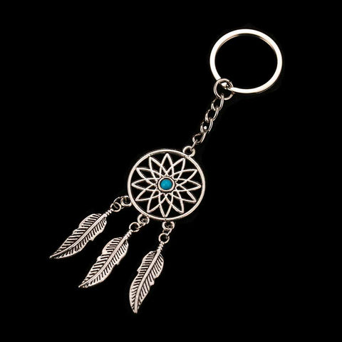 Keychain Dream Catcher Antique Silver - SoBuddha