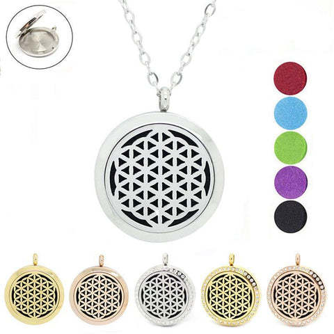"Pendant ""Flower of Life"" Diffuser of Essential Oil - SoBuddha"
