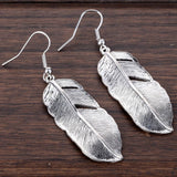 Feather Earrings - Antique Silver - SoBuddha