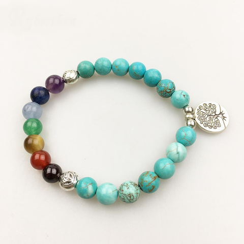 """7 Chakras and Positive Evolution"" Bracelet - SoBuddha"
