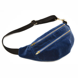 Izzy Bum Bag Blue Velvet