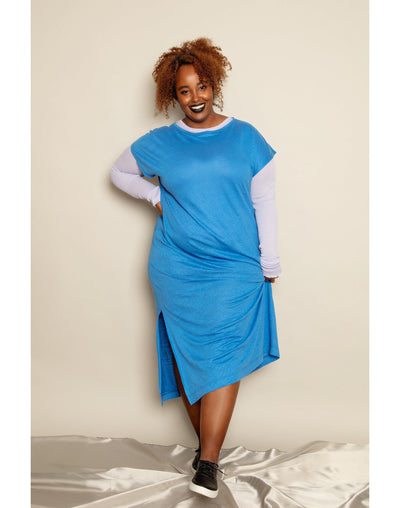 Isadora Dress Cornflower Blue - Mahla Clothing