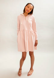 Ragna Hoodie Dress Light Pink