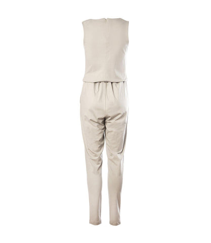 Iona Jumpsuit Light Ecru - Mahla Clothing